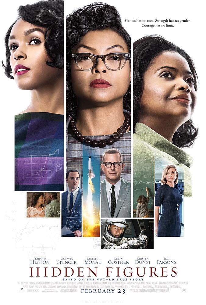หญิงเก่งผู้เปลี่ยนโลกบนโปสเตอร์ล่าสุด Hidden Figures เข้าฉาย 23 กุมภาพันธ์นี้ในโรงภาพยนตร์